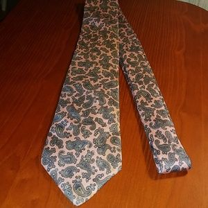 Christian Dior All Silk Paisley Pink Necktie 🇺🇸